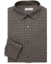 Charvet Check Dress Shirt - Gray