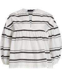 Piazza Sempione Striped Light Cotton Silk Shirt - Multicolor
