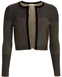 Oscar de la Renta - Striped Cardigan - Lyst