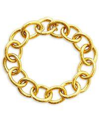 Elizabeth Locke Volterra 19k Yellow Gold Link Bracelet - Metallic