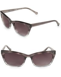 Colors In Optics Brickell 55mm Small Cat Eye Sunglasses - Gray