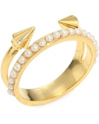 Vita Fede - Ultra Mini Titan Pearl Ring - Lyst
