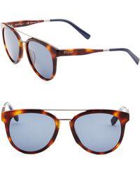 Ferragamo - 55mm Wayfarer Sunglasses - Lyst