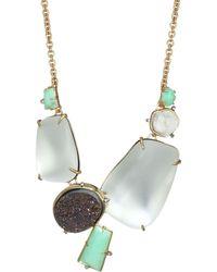 Alexis Bittar - Lucite Crystal & Gemstone 10k Gold Statement Necklace - Lyst