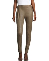 St. John - Stretch Leather Skinny Trousers - Lyst