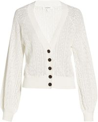 FRAME Chain Lace Cardigan - White
