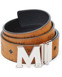 MCM - Monogrammed Leather Belt - Lyst