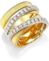 Marco Bicego - Masai 18k White & Yellow Gold Diamond Ring - Lyst