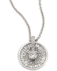 Plevé - Opus Ice Baguette Diamond & 18k White Gold Pendant Necklace - Lyst
