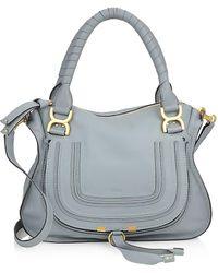 Chloé Mini Leather Marcie Bag - Blue