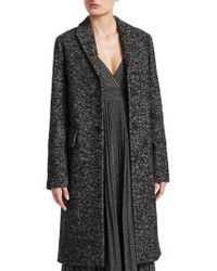 Dior - Boucle Single-breasted Wool-blend Coat - Lyst