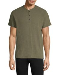 Rag & Bone - Cotton Henley - Lyst