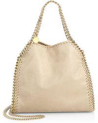 Stella McCartney - Falabella Mini Baby Bella Metallic Faux Suede Shoulder  Bag - Lyst a2c8f8038ae62