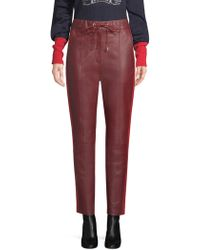 Tommy Hilfiger - Faux-leather Track Trousers - Lyst