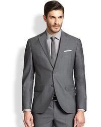 Saks Fifth Avenue Modern-fit Wool Sportcoat - Blue