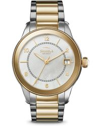 Shinola - The Gail Mother-of-pearl & Two-tone Stainless Steel Bracelet Watch - Lyst