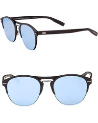 d296559988 Dior Homme 0204s 57mm Mirror Sunglasses in Blue for Men - Lyst