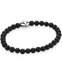 King Baby Studio Onyx Beads & Sterling Silver Bracelet - Black