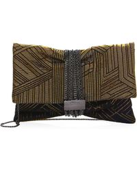 Jimmy Choo - Chandra Deco Graphic Clutch - Lyst