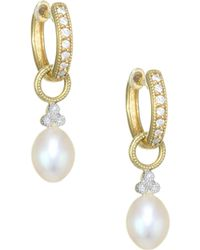 dd9ea715c4c69 Provence Pearl, Diamond & 18k Yellow Gold Champagne Briolette Earring Charms
