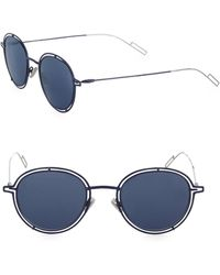 Dior Homme - 18mm Round Open Worked Sunglasses - Lyst