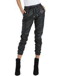n:PHILANTHROPY Scarlett Leather Sweatpants - Black