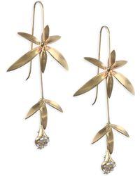Annette Ferdinandsen - Pearl & 14k Wildflower Drop Earrings - Lyst