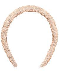 Loeffler Randall Marina Ruched Metallic Padded Headband