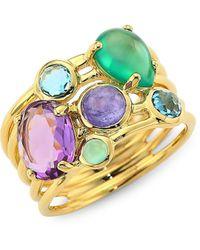 Ippolita Rock Candy® 18k Yellow Gold & Multi-stone Cluster Ring - Metallic