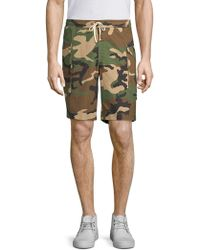 Ovadia And Sons - Tribeca Cotton Camo Shorts - Lyst