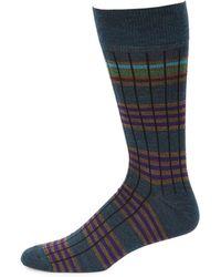Saks Fifth Avenue - Collection Six Color Stripe Dress Socks - Lyst