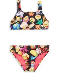 Terez - Little Girl's & Girl's Two-piece Emoji Bikini Top & Bottom Set - Lyst
