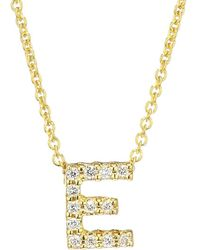 Roberto Coin - Tiny Treasures Diamond & 18k Yellow Gold Initial Necklace - Lyst