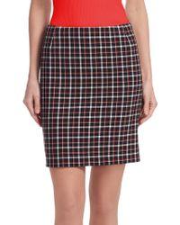 Akris Punto - Glen Check Mini Skirt - Lyst