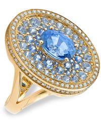 Robinson Pelham Asteroid 18k Yellow Gold, Blue Sapphire & Diamond Cocktail Ring - Metallic