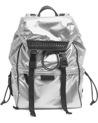 Stella McCartney | Metallic Drawstring Backpack | Lyst