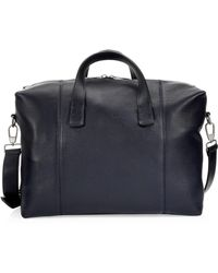 Emporio Armani - Leather Travel Bag - Lyst