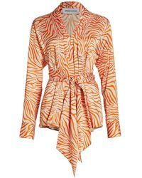 Adriana Iglesias Enza Silk Top - Orange