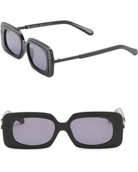 Karen Walker - 51mm Mr. Binnacle Black Sunglasses - Lyst