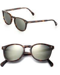 9a864e6728b Oliver Peoples Alain Mikli X Finley Metallic Detail Sunglasses in ...
