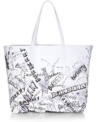 Burberry - Coat Canvas Tote - Lyst