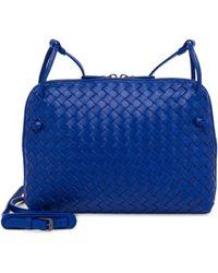 Bottega Veneta - Pillow Intrecciato Leather Crossbody Bag - Lyst