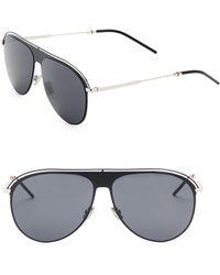 022028fa7ed Dior Homme 52mm Round Aluminum Sunglasses in Metallic for Men - Lyst