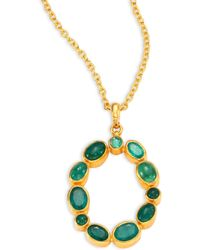 Gurhan - Amulet Hue Emerald & 24k Yellow Gold Pendant Necklace - Lyst