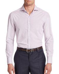 Brunello Cucinelli - Ministriped Cotton Button-down Shirt - Lyst