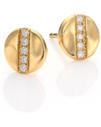 Ippolita - Glamazon Stardust Diamond & 18k Yellow Gold Stud Earrings - Lyst