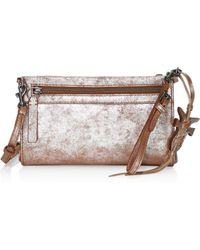 Frye - Carson Metallic Leather Wristlet Crossbody Bag - Lyst