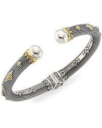 Konstantino - Delos 18k Gold & Sterling Silver Hinge Bracelet - Lyst