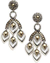 John Hardy - Naga 18k Yellow Gold & Sterling Silver Chandelier Earrings - Lyst