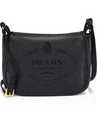 24ed921af1 Lyst - Prada Vitello Daino Single-strap Hobo Bag in Gray